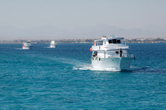 Boat on the sea. Boat on the Red sea royalty free stock photo