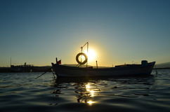 Boat. On the sea Royalty Free Stock Image
