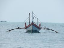 The boat into the sea in Asia Stock Photography