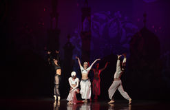 """A boat in the sea- ballet """"One Thousand and One Nights"""" Royalty Free Stock Images"""