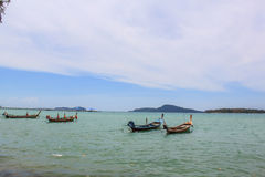 Boat on the sea in the beach, Phuket Thailand Royalty Free Stock Photography