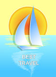 The boat on the sea best travel. Vector illustration the boat on the sea Stock Photography