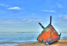 Boat and sea with blue sky Royalty Free Stock Photography