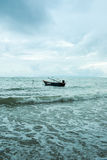 Boat on the sea with blue sky Royalty Free Stock Image