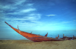 Boat and sea with blue sky at Thailand Stock Image