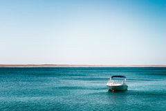 Boat on the sea. Boat on the calm sea Royalty Free Stock Photography