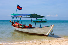 Boat on the sea in Cambodia Royalty Free Stock Image