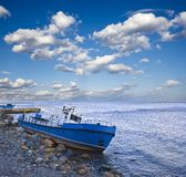Boat on a sea coast Royalty Free Stock Photo
