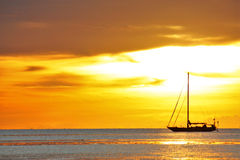 Boat and sea. A boat and sea in evening pattaya,thailand Stock Image