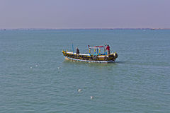 Boat on sea Royalty Free Stock Images