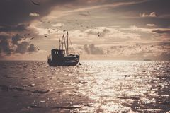 Boat in a sea Stock Photography