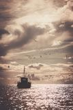 Boat in a sea Royalty Free Stock Photography