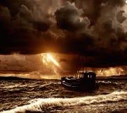 Boat in sea Stock Photos