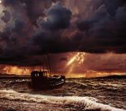 Boat in sea Stock Image