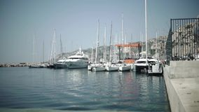 Boat in the sea. France Provance stock footage