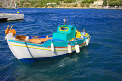 A boat in the sea. Greece. Royalty Free Stock Images