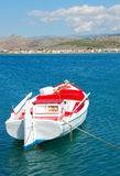Boat and sea, greece royalty free stock image