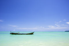 Boat on the sea. Boat in the Havelock Island bay, India Stock Photo