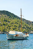 Boat on the sea, Kefalonia Royalty Free Stock Image