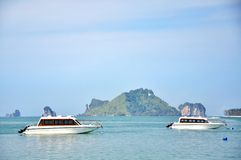 Boat on the sea in Krabi Thailand Stock Image