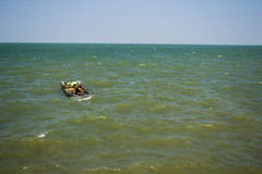 A boat on the sea Royalty Free Stock Photos