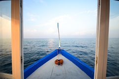 Boat in the sea Royalty Free Stock Photography