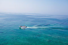 Boat in the sea Royalty Free Stock Images