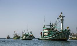Boat at the sea near nam du island stock image