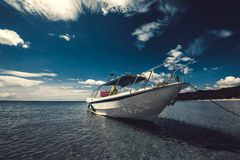 The boat in the sea Stock Image