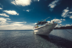The boat in the sea. Royalty Free Stock Photos