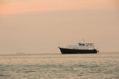 The boat on the sea in Pataya ,Thailand. Stock Photo