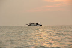 The boat on the sea in Pataya ,Thailand. Royalty Free Stock Images