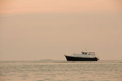 The boat on the sea in Pataya ,Thailand. Stock Image