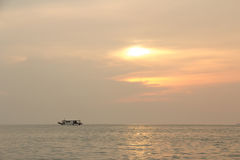 The boat on the sea in Pataya ,Thailand. Stock Images