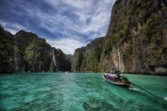 Phi Phi Island sea boat , Thailand - stock image