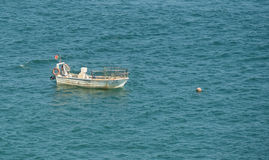 Boat at sea in Portugal Royalty Free Stock Photography