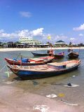 Boat on the sea. The boat on the sea in Rayong Thailanh Stock Photo