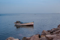 Boat on sea. Boat on Red sea, Egypt Stock Images