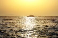 Boat in sea Stock Photo