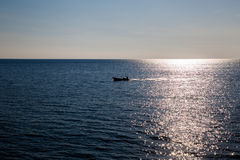 Boat in the sea Royalty Free Stock Photo