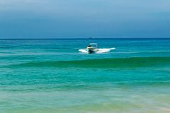 Boat on the sea Stock Image