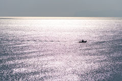 Boat at sea. Stock Images
