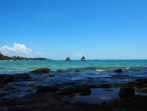 Boat on sea in samed ,thailand Stock Photos