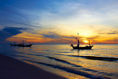 Boat in the sea. Royalty Free Stock Photo