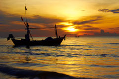Boat in the sea. Royalty Free Stock Photography
