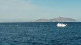 Boat in the sea. ship in the sea stock video