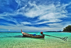 Boat in sea, south of Thailand Royalty Free Stock Photos