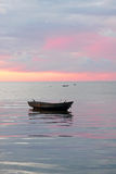 Boat at the sea, sunrise Royalty Free Stock Photos
