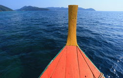 The boat on sea Royalty Free Stock Images