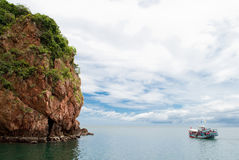A boat in the sea ,Thailand. A boat in the sea , Gulf of Thailand Stock Photo